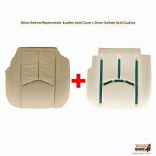 2005 Cadillac Escalade Driver Bottom Perforated Cover & Foam Seat Cushion Tan
