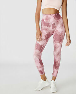 Cotton On Body Active Washed Rose Camo Floral 7/8 Tights