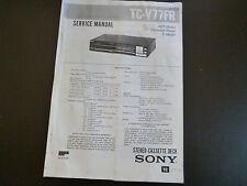 Service Manual  Sony TC-V77FR