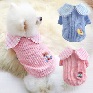 Dog Jumpers Small Soft Warm Sweater for Pomeranian Pet Cat Puppy Coat Sweatshirt