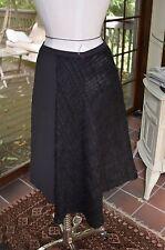 Edeline Lee black  lodge  asymmetrical skirt sz 10 handmade in england $850 17 W