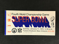1970 Super Bowl IV Ticket Stub KC Chiefs Minnesota Vikings Len Dawson MVP (C)