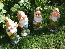 LATEX MOULD MOULDS MOLD.     4 PIECE X  13 INCH GARDEN GNOME SET.