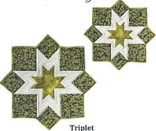 Triplet placemats and table topper quilt pattern by Designs to Share with You