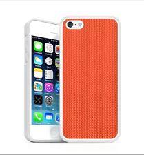 Backhug Slim Case for Apple iPhone 5 5s, Silver Frame & Jacaranda Orange Leather