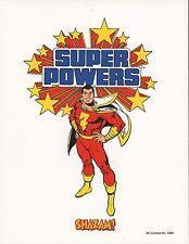 DC SUPER POWERS PRINTS  - SHAZAM / CAPTAIN MARVEL