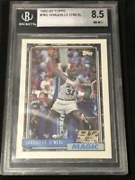 🔥9 SUB🔥 1992-93 Topps Basketball SHAQUILLE ONEAL ROOKIE, NM-MT BGS 8.5, LAKERS
