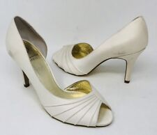 Adrianna Papell Womens Flynn d'Orsay Evening Pumps Size 7 Ivory
