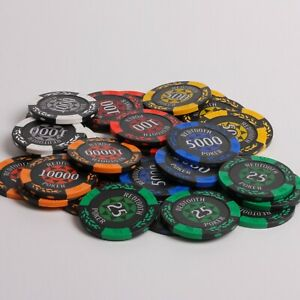 14 Gram Numbered Redtooth Poker High Quality Casino Chip Rolls