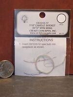 Dollhouse Miniature Electric Cir-Kit 7/16 Candle Socket 1:12 scale G18 CK1010-17