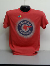 PONTIAC SERVICE TSHIRT  GM LICENSED GTO RED HEATHER(DISCONTINUED)