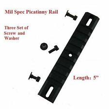 "5"" Bolt on Picatinny Rail Hand Guard - Bead Blast Anodized Aircraft Aluminum"