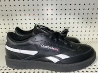 Reebok Club C Revenge Mens Leather Athletic Lifestyle Shoes Size 10.5 Black
