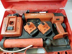 Hilti ED-3500-A Cordless Dispenser Epoxy Glue Paste Adhesive Gun w/ Case&Battery