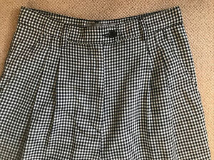 ASOS Ladies Check Pleated Trousers Size 10