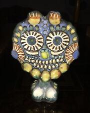 1981 Cuba Fine Art ~ ALFREDO SOSABRAVO Ceramic Pottery ~ Siju Owl Bird