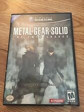 Metal Gear solid The Twin Snakes Nintendo GameCube Complete Black Label NG6