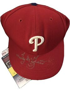 Tug McGraw Philadelphia Phillies Fitted Hat SIGNED w/ Marlon Byrd JSA Authentic