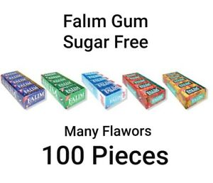 Falim Flavoured Sugarfree Chewing Gum = 100 pieces Free Express Shpping