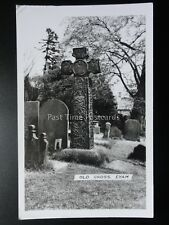 Derbyshire EYAM The Old Cross - Old RP Postcard