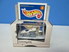 Hot Wheels Lexmark Motorcycle White w/Flames
