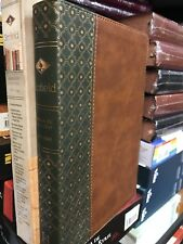 Biblia  DE ESTUDIO Scofield Reina Valera 1960 Simil Piel Verde Oscura Castaño