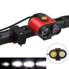 2x XM-L2 LED Bicycle Bike Light 10000LM Headlamp High&Low Beam Light 4 Mode 8.4V
