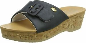Scholl Wappy Memory Cushion Sandals - Navy Blue