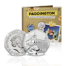 Paddington Bear 50p Coin Official Royal Mint Coin at the Tower Licensed Pack