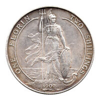 KM# 801 - One Florin - Two Shillings - Edward VII - Great Britain 1902 (EF)
