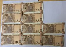 10 Indian new Rupees 10 Un circulated currency notes issued in 2017
