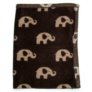 Tiddliwinks Tan Brown Elephant Baby Blanket 30x40 Security Lovey