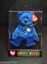 1998 CLUBBY THE BEAR TY BEANIE BABY PE PELLETS MADE IN CHINA PLUSH WITH TAGS