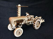 VINTAGE Trattore Da Fattoria in legno taglio laser 3D Puzzle Kit Modello/