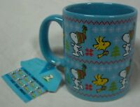 PEANUTS SNOOPY WOODSTOCK A Charlie Brown CHRISTMAS CERAMIC MUG NEW