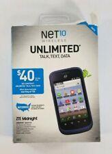 ZTE Midnight Wireless Cell Phone Z768 Net10 Smartphone - NEW OPEN BOX