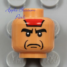 NEW Lego Medium FLESH MINIFIG HEAD w/Red Native Indian Paint Angry Mola Ram 7199