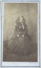 Vieille Dame Anonyme Carte de visite Cdv France Photo Vintage Albumine c1860