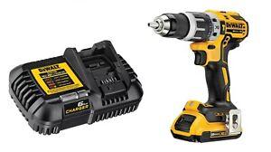 "DEWALT DCD796 20V Brushless 1/2"" Compact Hammer Drill w/ 2 Ah Battery & Charger"