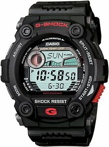 Casio G-Shock Men's Watch G7900-1 G-7900-1DR Moon Tide Tables Black Digital