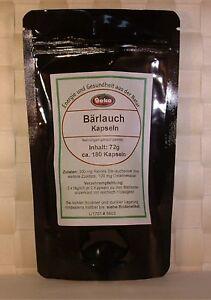 Bärlauch-Kapseln  72g  ca.180 Kapseln a´400mg - OVP                        #5303