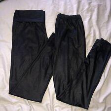 black dance / yoga leggings   size 6-8