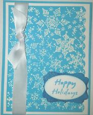 Christmas Greeting Card Kit Using Stampin Up's Tempting Turquoise Cardstock