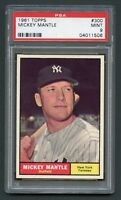 1961 TOPPS #300 MICKEY MANTLE PSA 9 MINT