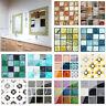 DIY Wasserfest Selbstklebend 3D Wand Sticker Mosaik Kachel Aufkleber Glas Heim