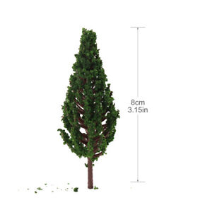 30pcs Model Pine Trees Green 1:87 For HO OO Scale Railway Layout 8cm S8532