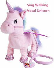 Magical Walking & Singing Unicorn Toys Plush Birthday Cutest Gift for Children