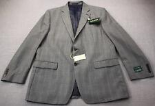 RALPH LAUREN Silk Wool Men Blue Black Plaid Checker Sportcoat Blazer NWT 44 Long