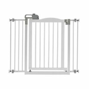 """Richell One-Touch Gate II Dog gate Fits Openings from 32.1-36.4"""" White 30.5"""" H"""
