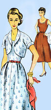 1950s Misses Simplicity Sewing Pattern 4306 Uncut Misses Simple Dress Sz 16 34B